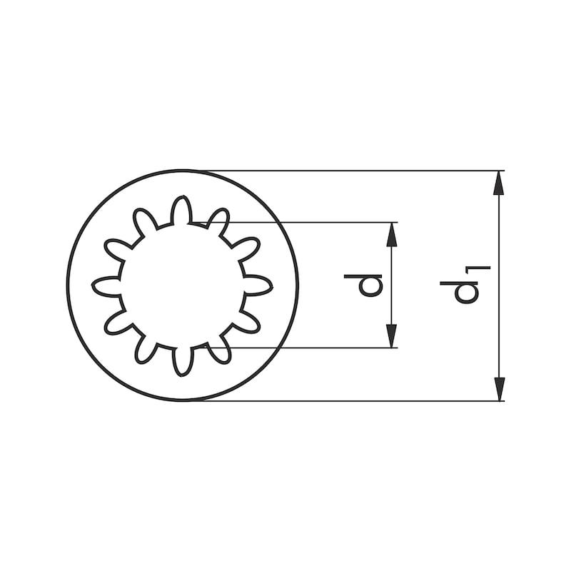 Zahnscheibe innengezahnt Form J - SHB-ZAHN-DIN6797-JZ-(A2K)-D19,0