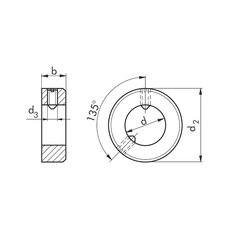 Stellring Form B - STLRG-DIN705-B-D30