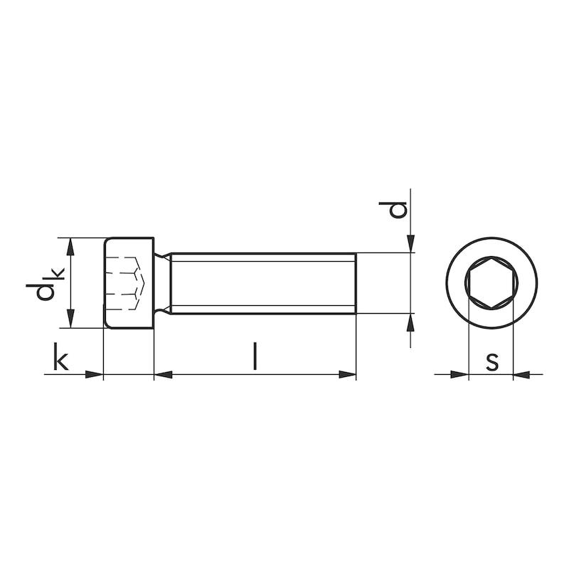 Gewindefurchende Schraube - SHR-ZYL-DIN7500-EE-IS5-(A2K)-M6X20