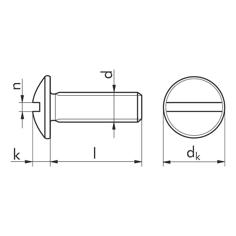 Vis à tête ronde à fente - VIS-POELIER-TRL-4.8-FEND-(A2K)-M10X25