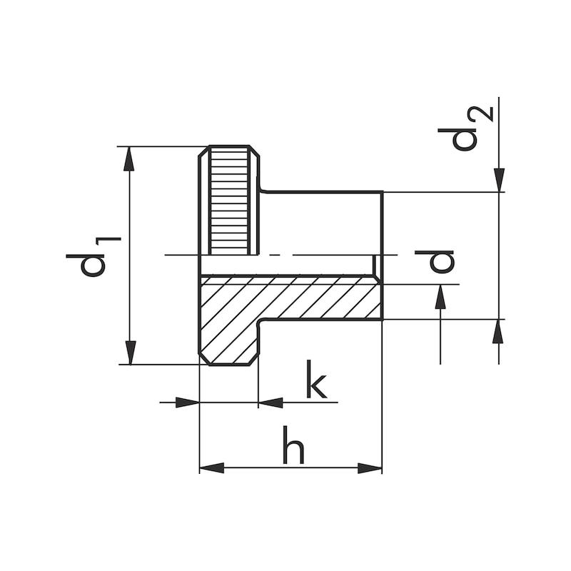 Rändelmutter hohe Form - MU-RAEND-DIN466-5-(A2K)-M10