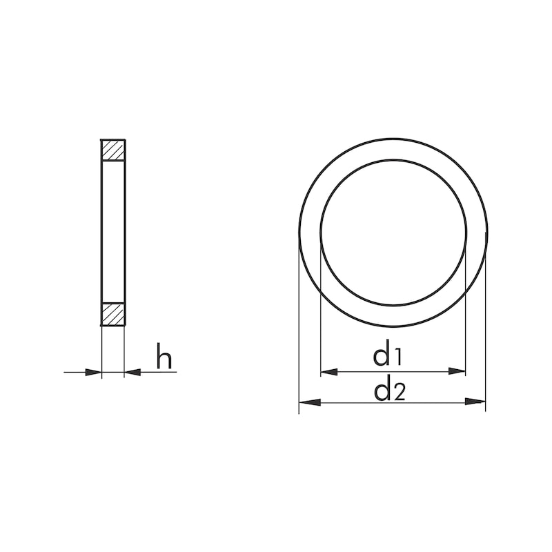 Dichtring Kupfer Form A - RG-DI-DIN7603-CU-A-6,5X9,5X1