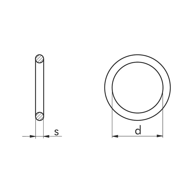 O-Ring metrisch - RG-O-ISO3601-PERBUNAN70-26,00X3,00