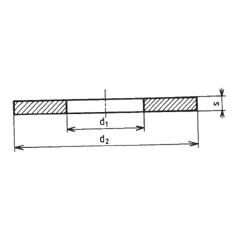 Scheibe Form LL - SHB-NFE25514-(A2)-LL-13,0X40,0X2,5