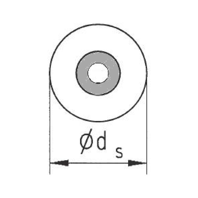 Dichtscheibe für Spenglerdichtschraube Kupfer - 2