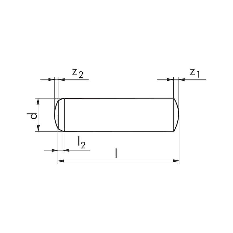 Cilindrische pen, gehard - PEN-CIL-DIN6325-GEH-M6-2,5X32
