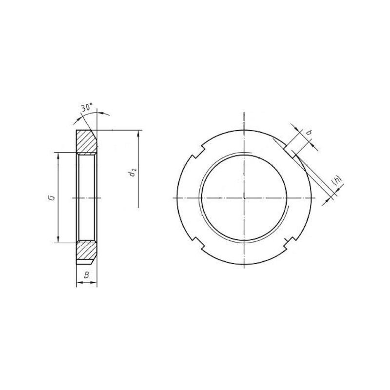 Nutmutter für Spannhülse - MU-NUT-DIN981-KM17-M85X2,0