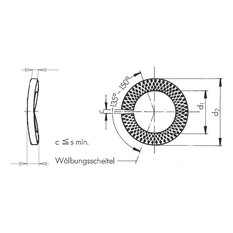 Sperrkantring  Form VSK - SPEKTRG-VSK-(GEO)-D8,1