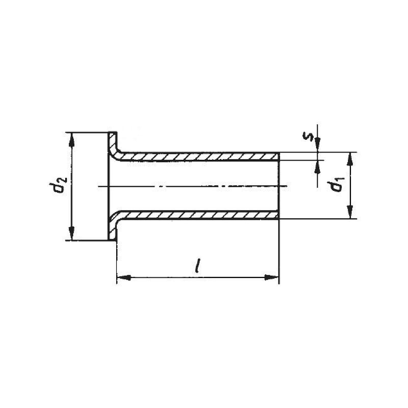 Rohrniet - NT-DIN7340-ST-A-(A2K)-6X0,5X13