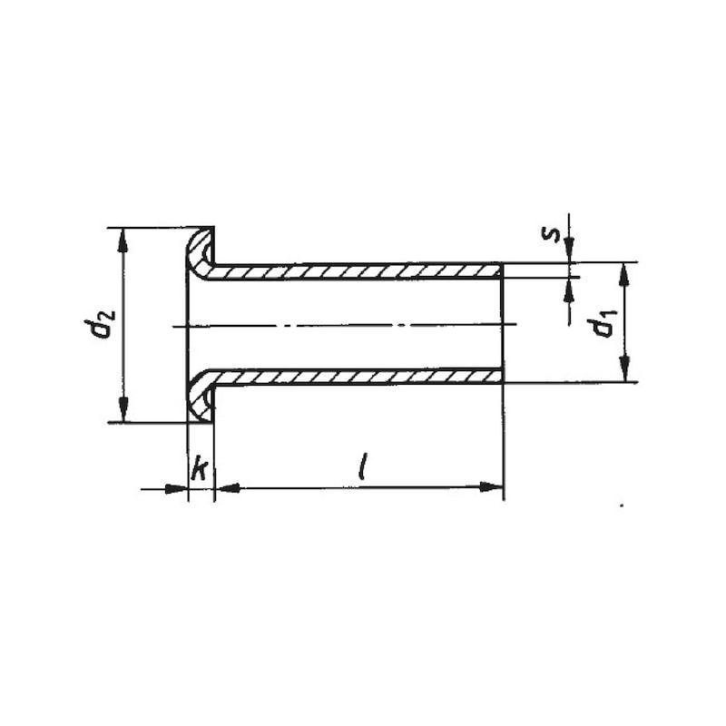 Rohrniet - NT-DIN7340-ST-B-(A2K)-8X1X38