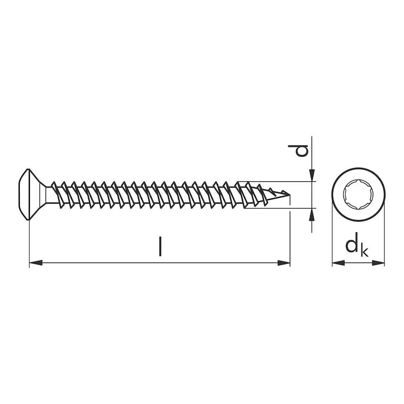ASSY<SUP>®</SUP> 3.0 vernickelt Spanplattenschraube - SHR-LISEKPF-HO-AW20-(E1J)-3,5X45/40