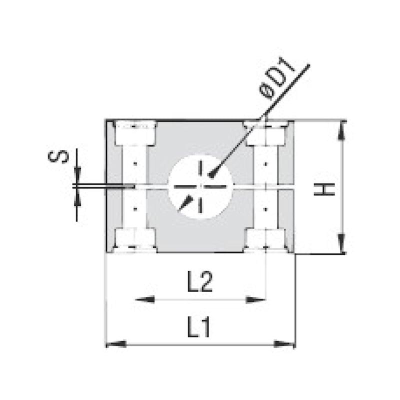 Schellenkörper Premium Teil 2 - Schwere Baureihe - SHELKPR-DIN3015/2-PP-GR5S/3-5033,7