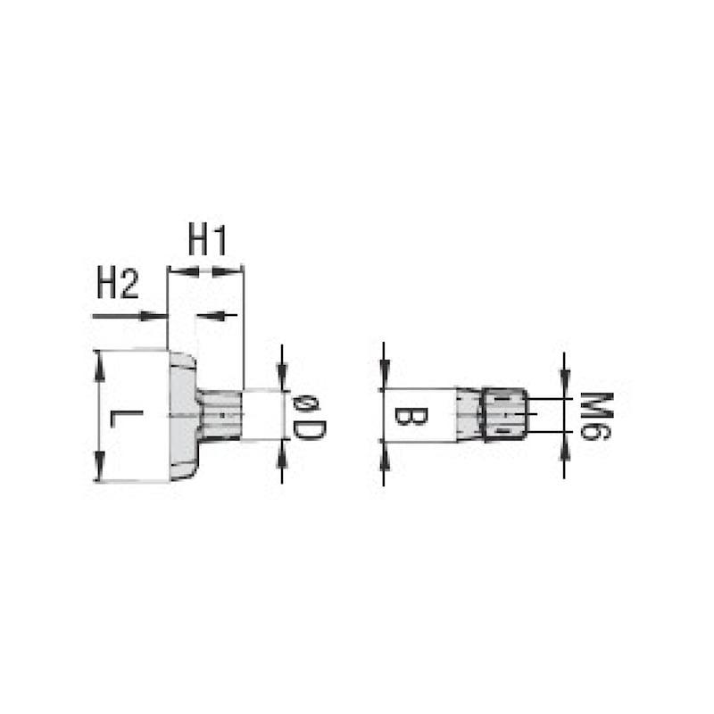 Tragschienenmutter Typ SM - 2