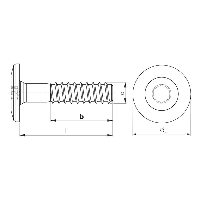 Treppenbauschraube Holzschraubengewinde - 3