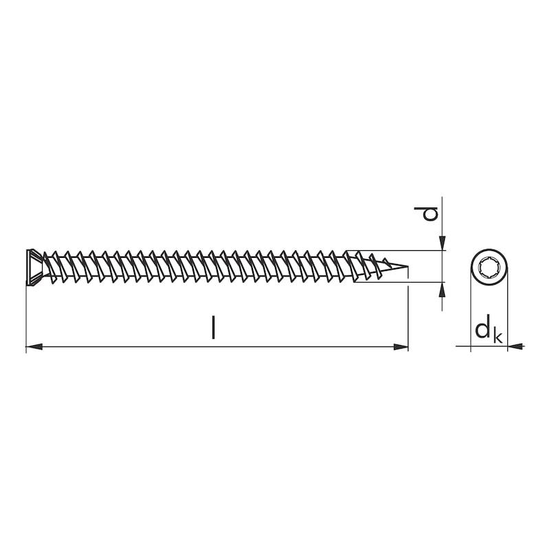 Abstandsmontageschraube Amo<SUP>® </SUP>III 7,5 Typ 1 Senkfräskopf - SHR-SEKPF-FRS-AW30-(A2L)-7,5X132