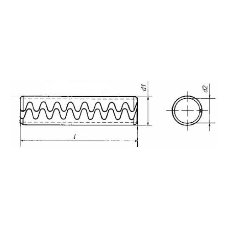 Spina elastica tipo LG acciaio per molle grezzo - 2