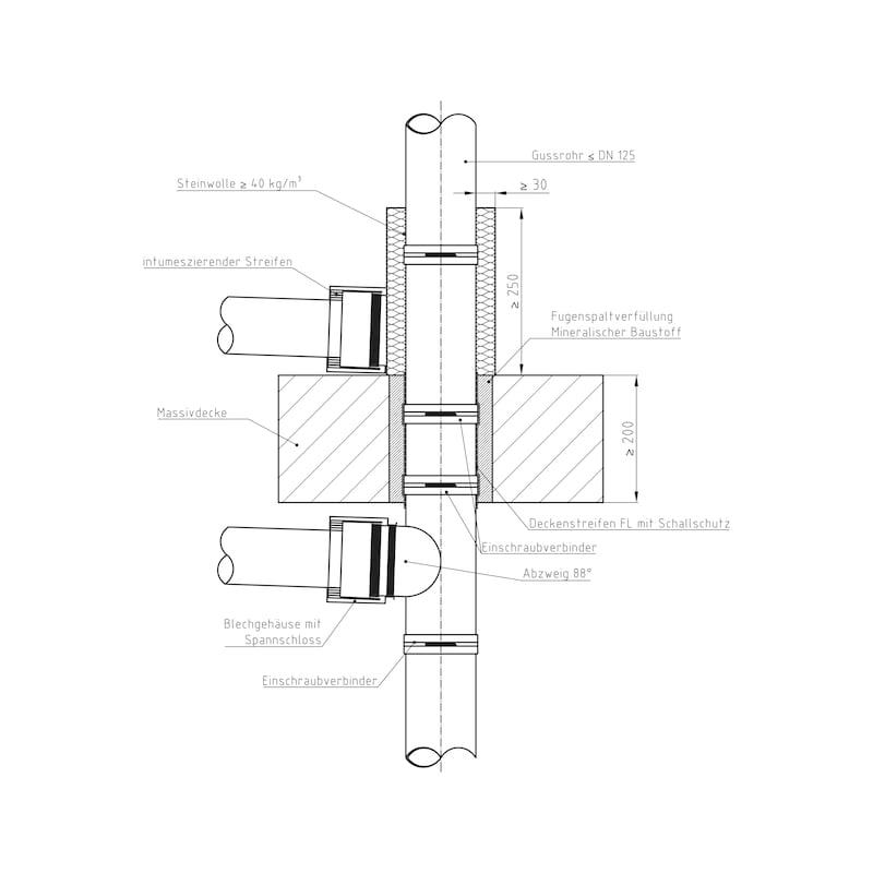 Rohrmanschette SML/Kunststoff - 2