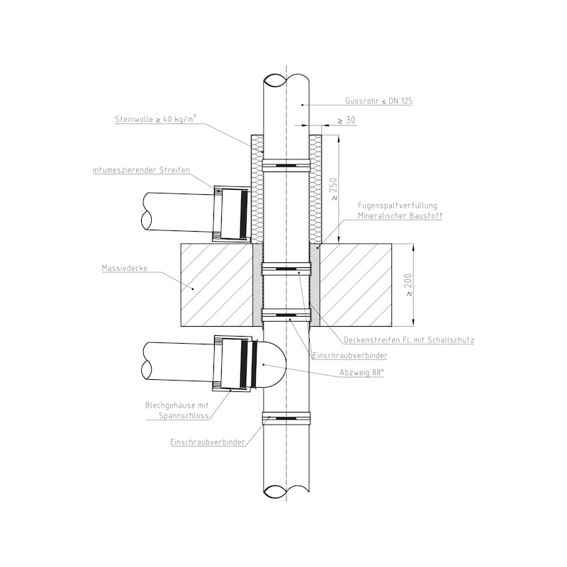 Rohrmanschette SML/Kunststoff - ROMANS-SML-KST-50MM