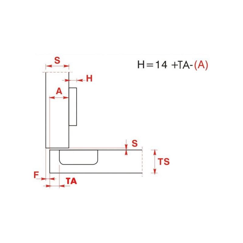 Möbelscharnier  EasyClick - 4