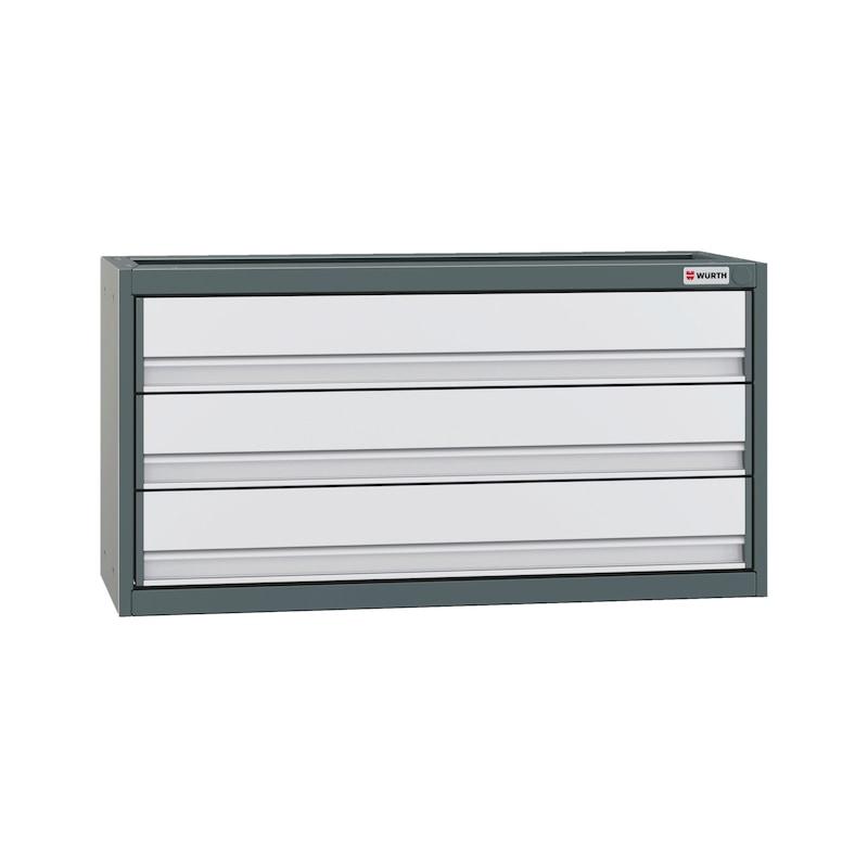Cassettiera con frontale in alluminio Larghezza: 834 mm