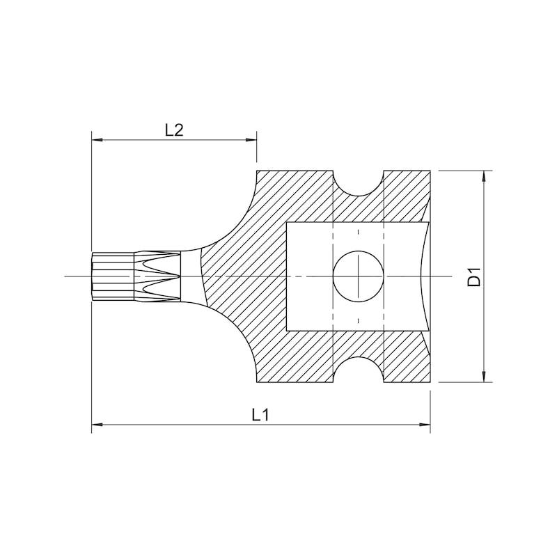 1/2 Zoll Kraftsteckschlüsseleinsatz - 2
