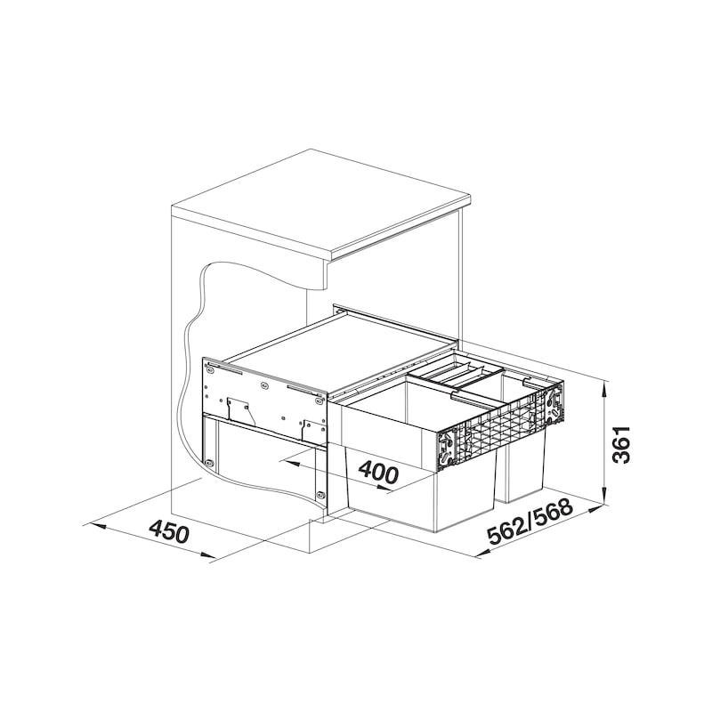 Mülltrennsystem Select II XL - 2