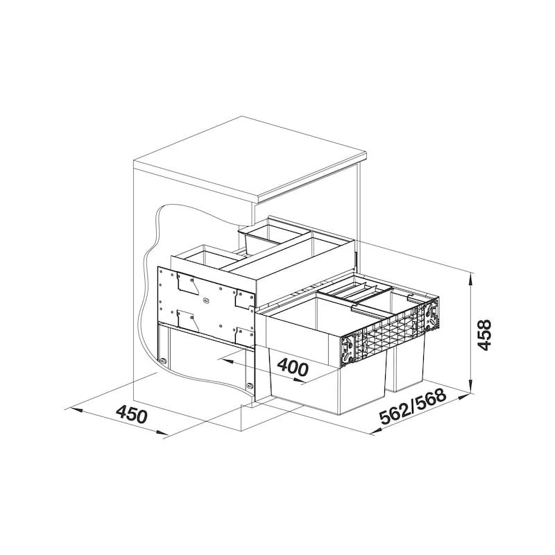 Mülltrennsystem Select II XL Orga - 2