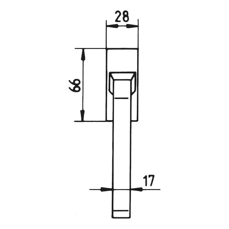 Fenstergriff ZD 400 - 3