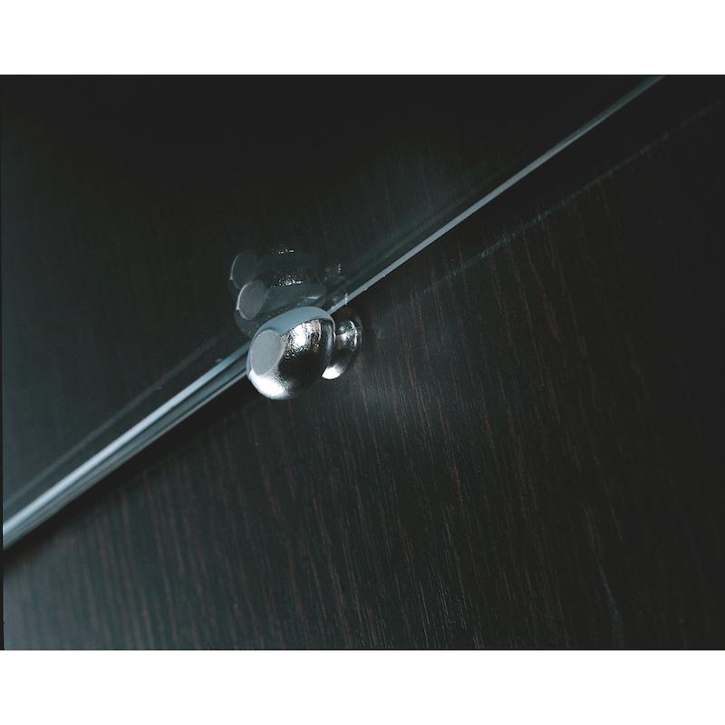 Taquet design d'étagère en verre, ovale - 2