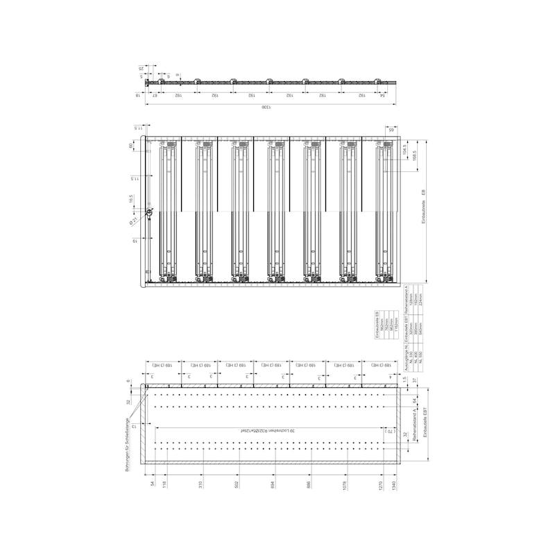 Breitschublade  OrgaAer - ORGASYS-BREIT-SLFCL-SILBERGRAU-B600-L400
