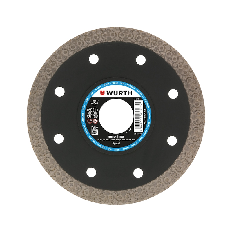 Disque diamant Speed, carrelage - ZEBRA DISQUE TRONÇ DIAMANT-MULTIMAX115MM