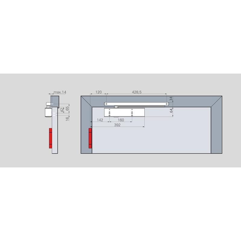 Türschließer GTS 690 (EN 5-6) Mit Gleitschiene  - 3