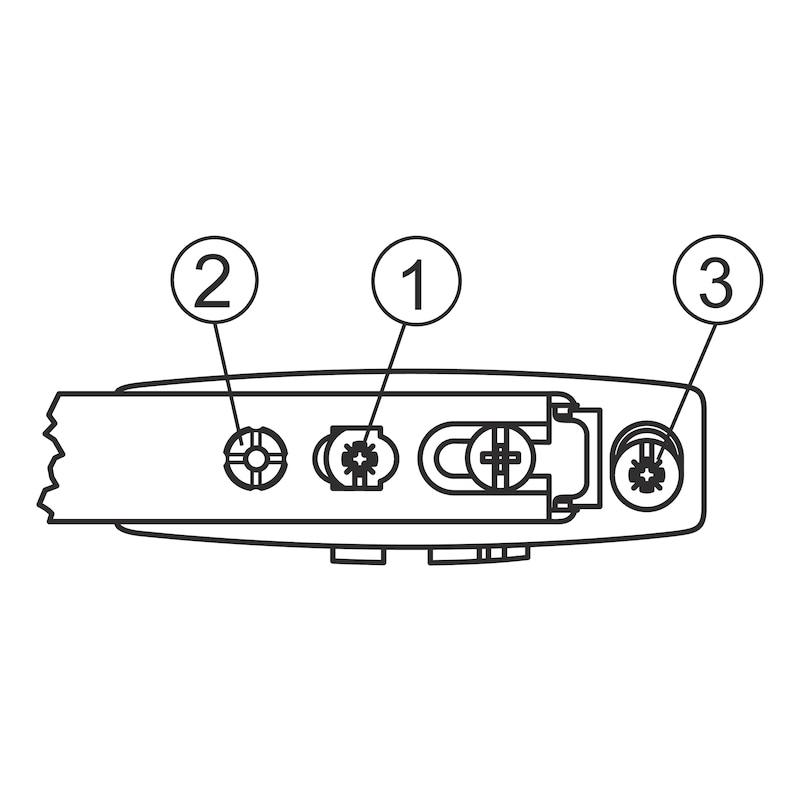 Stegmontageplatte Nexis - 3