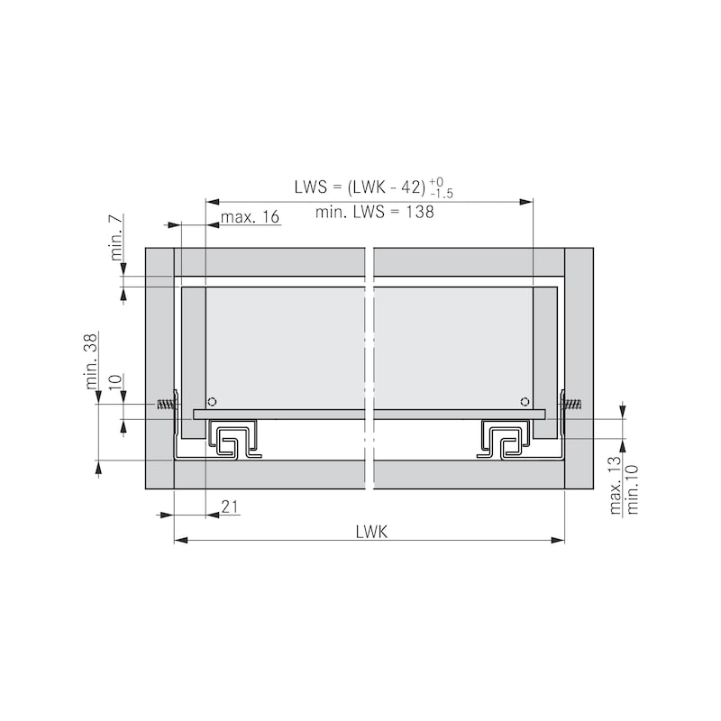 Guida invisibile con estrazione totale Guide Dynamoov Soft-close con liquido - 5