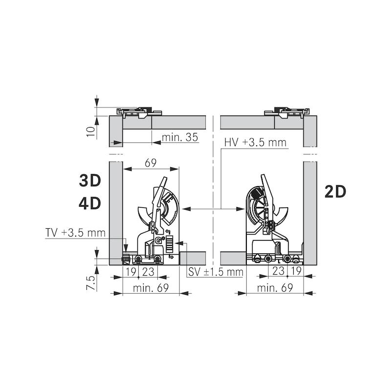 2D-Rastkupplung und Verstelladapter - 6