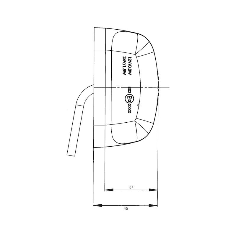 LED-Umrissleuchte 12 V/24 V - 3