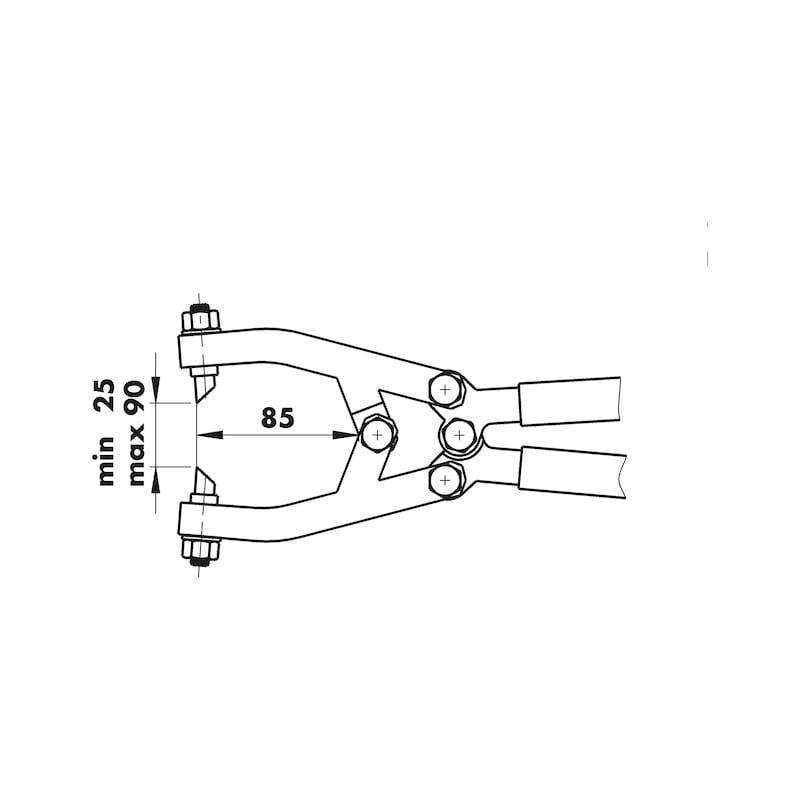 Trapezlochzange - 2