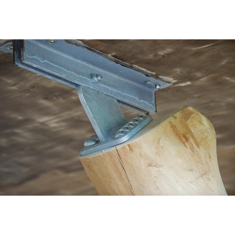 Winkelscheibe 45° Rundloch - 7