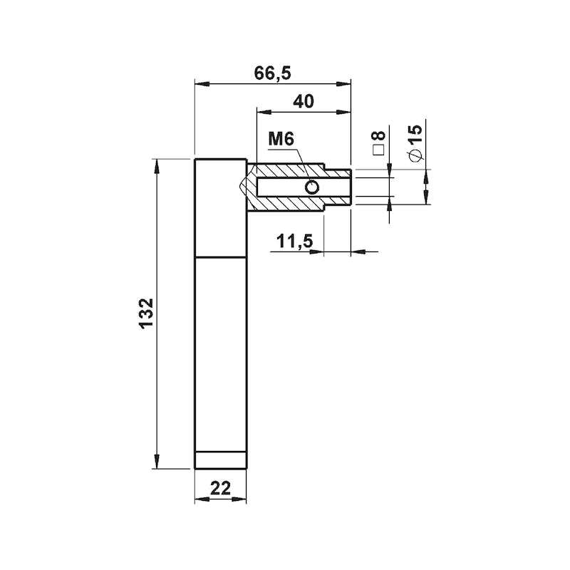Türdrücker ZD 46 Rosettengarnitur - 2