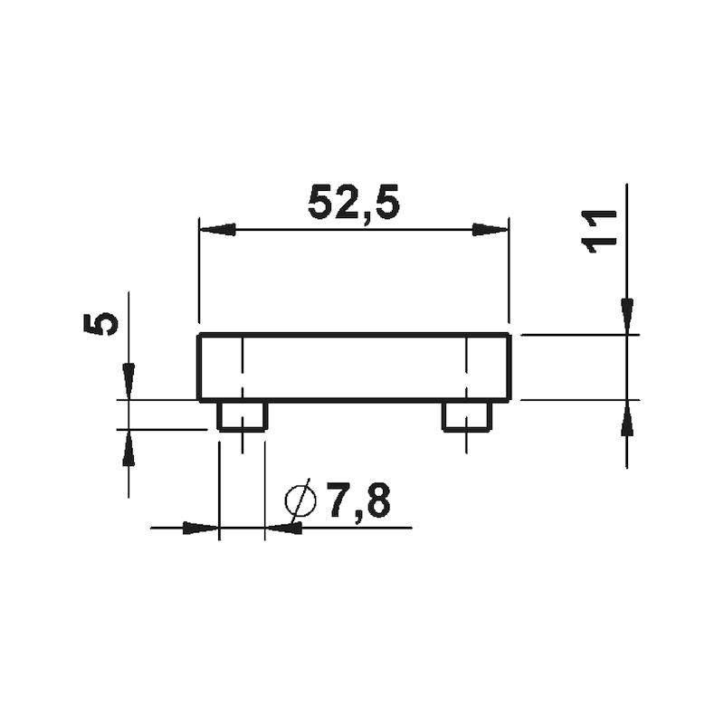 Türdrücker ZD 46 Rosettengarnitur - 3