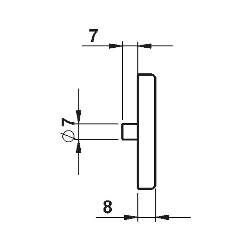 Schlüsselrosettenpaar AL 30 - TD-ALU-AL30-ROS-PZ-F2/NEUSILBER