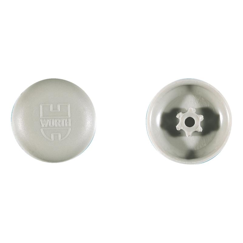 Abdeckkappe überlappend, für Innensechsrund und AW-Antrieb - ABDEKA-KST-AW20-R7030-STEINGRAU-11,5