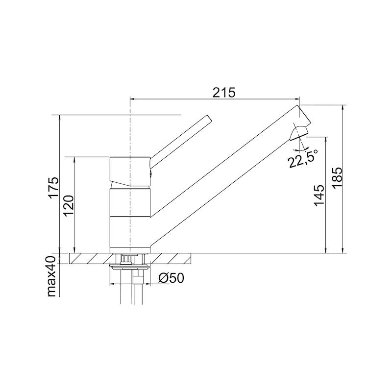 Single-lever mixer tap Blancoantas - 2
