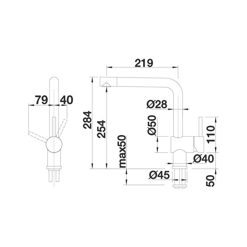 Einhebel-Mischbatterie Blancolinuns S - 2