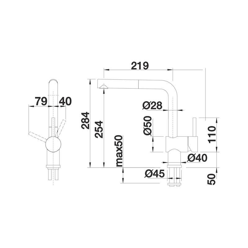 Einhebel-Mischbatterie Blancolinuns S - 4