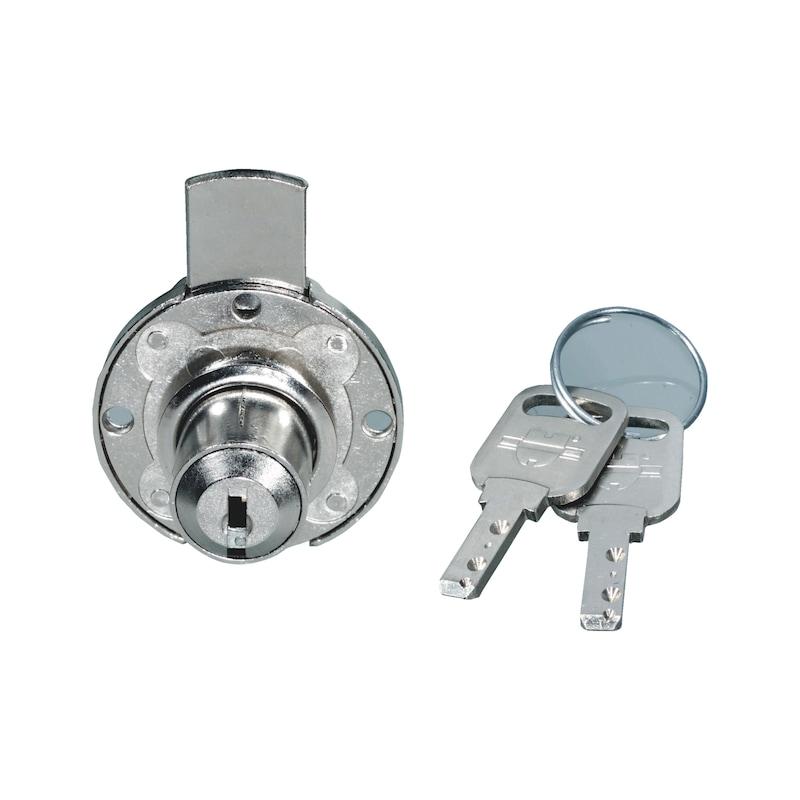 Serratura per mobile a cilindro con chiusura  - 1