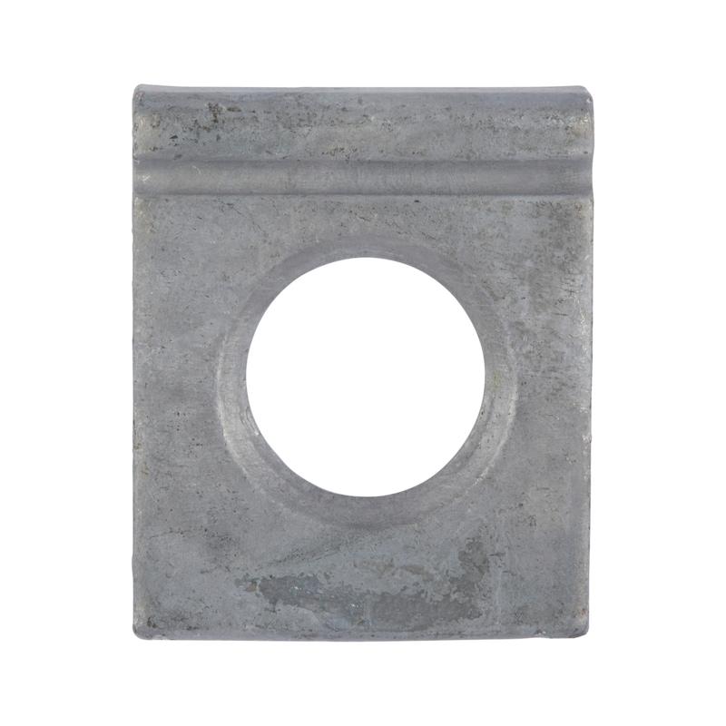 Scheibe, vierkant, keilförmig für HV-Schraube an I-Profil - SHB-HV-DIN6917-(I-PRFL)-(TZN)-D21