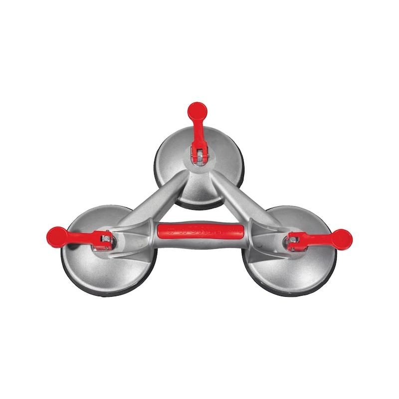 Ventosa in alluminio a tre prese ERGO-LINE - VENTOSA A 3 PRESE 100KG