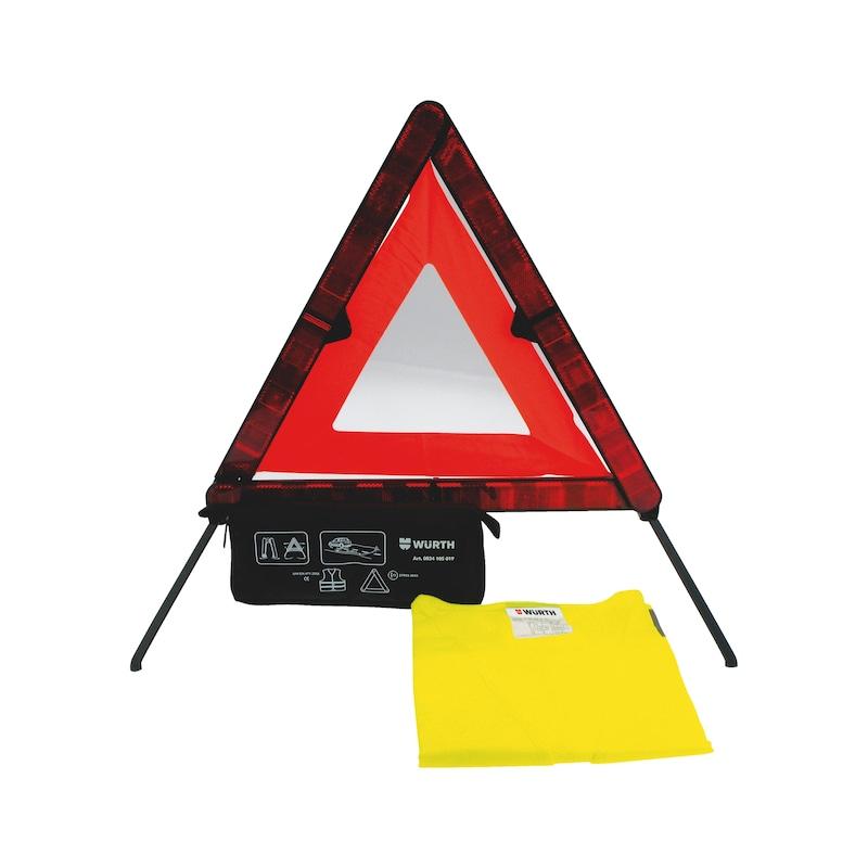 Kit emergenza con triangolo nano e gilet