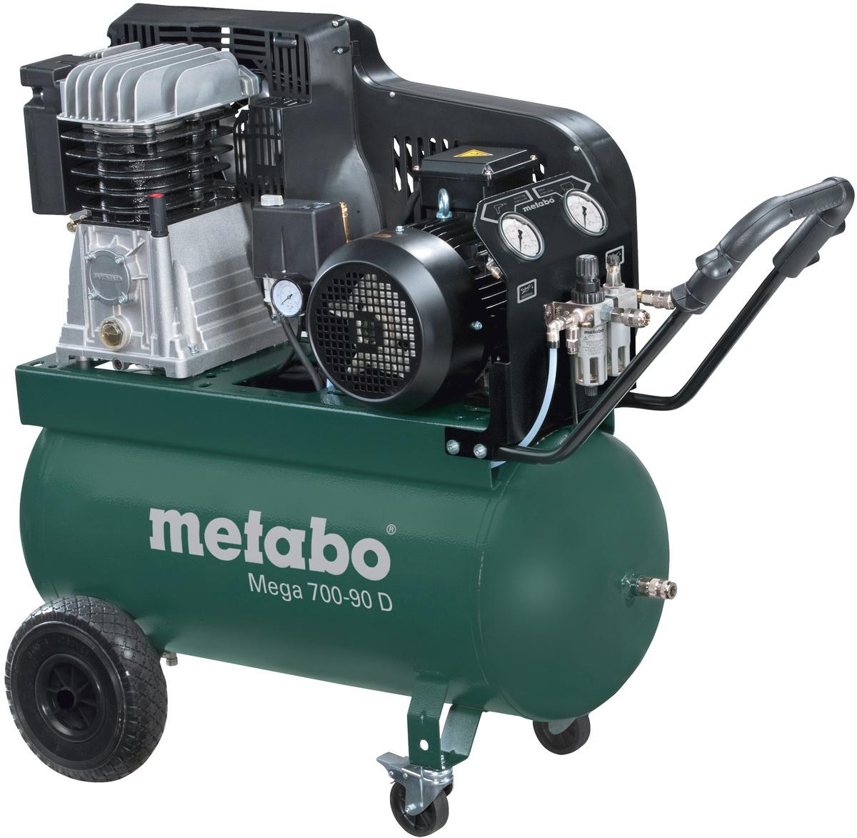 metabo druckluft kompressor mega 700 90 d 75290041 hahn kolb. Black Bedroom Furniture Sets. Home Design Ideas